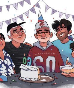 ArtCorgi - Family Portraits by Megan Crow featuring a charming birthday party