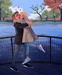 ArtCorgi - Family Portraits by Megan Crow featuring a couple kissing