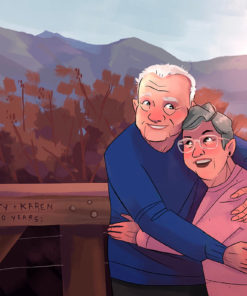 ArtCorgi - Family Portraits by Megan Crow featuring a lovely old couple