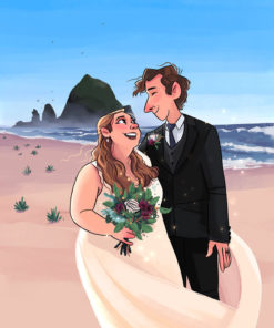 ArtCorgi - Family Portraits by Megan Crow featuring a wedding day couple