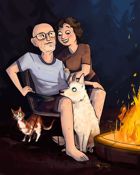 ArtCorgi - Family Portraits commission sample by Megan Crow
