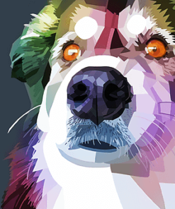 ArtCorgi - Geometric portraits commission sample by fortwas