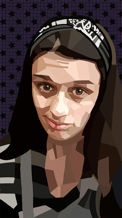 ArtCorgi - Geometric portraits commission sample by fortwas