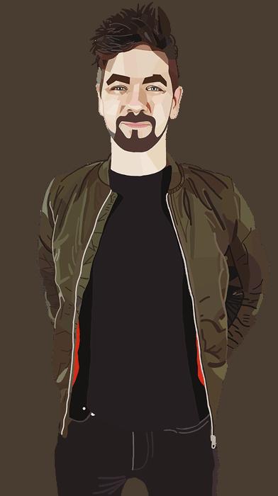 ArtCorgi - Geometric portraits commission sample by fortwas - Jacksepticeye