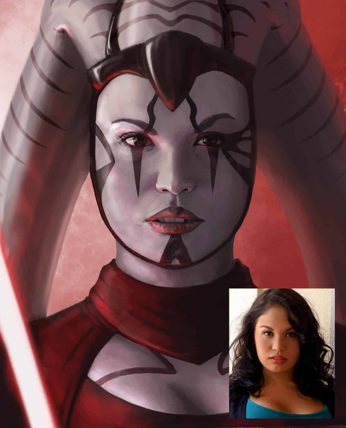 ArtCorgi - Human to fantasy portraits by Ian Brewer - Alice turned into a Sith from Star Wars