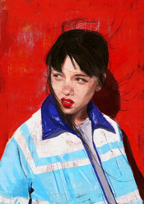ArtCorgi - Realistic Portraits commission sample by karenauau