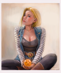 ArtCorgi - Realistic portraits by JohnykatoArt featuring Dragon Ball C18