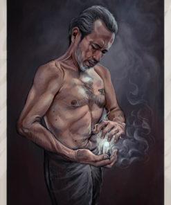 ArtCorgi - Realistic portraits by JohnykatoArt featuring a man doing magic