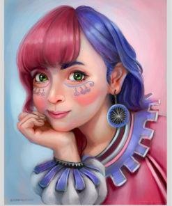ArtCorgi - Realistic portraits by JohnykatoArt featuring an cute clown girl