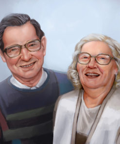 ArtCorgi - Realistic portraits by JohnykatoArt featuring an elderly couple