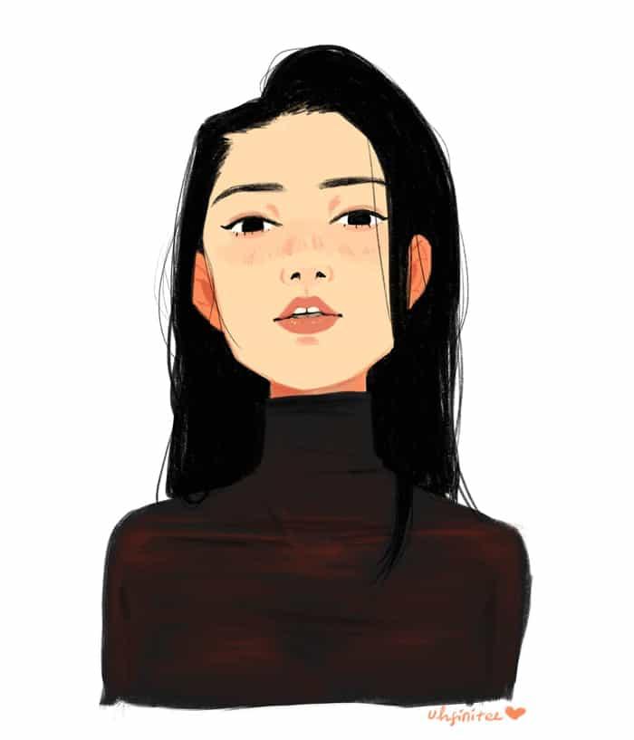 ArtCorgi - Stylized female portrait by Barbila