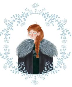 ArtCorgi - Stylized portraits commission sample by Silvia Brunetti - Sansa Stark