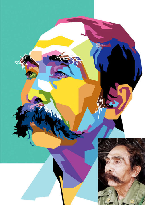 ArtCorgi - WPAP pop art portraits commission sample by Ari Alfian