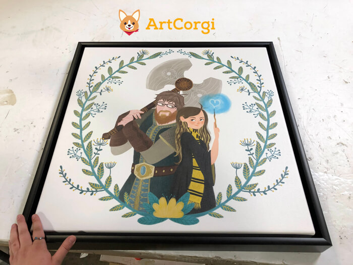 Framed Print of an ArtCorgi commission for Marley by Silvia Brunetti
