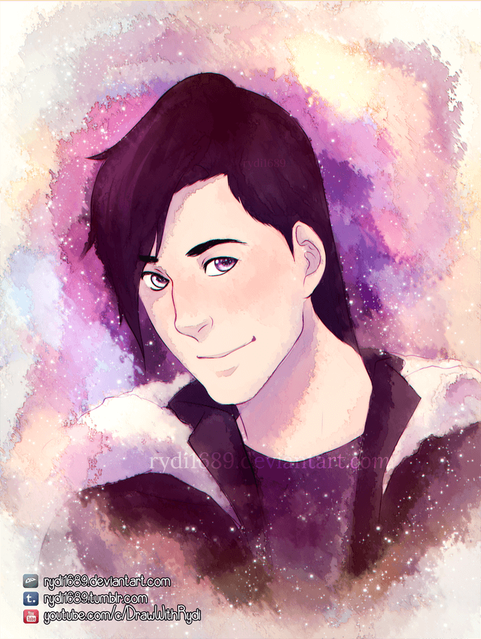 ArtCorgi - Markiplier watercolor portrait commission sample by Lucia Garcia - Drawwithrydi