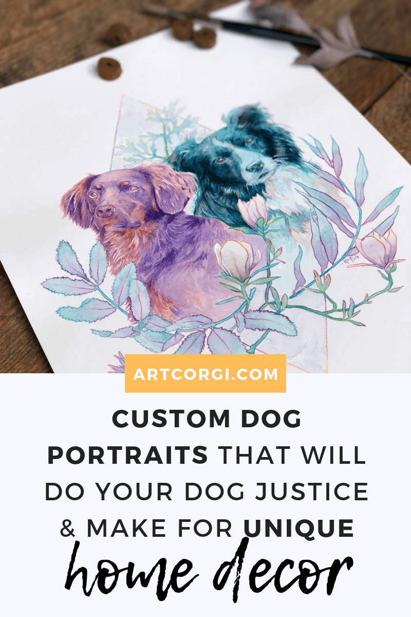 Custom dog portraits that will do your dog justice and make for unique home decor - Art by Thenizu