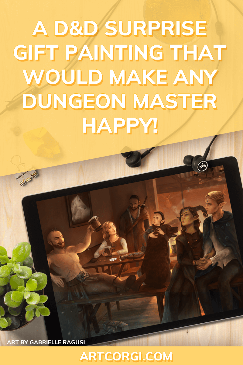 A D&D surprise gift painting that would make any Dungeon Master happy