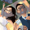 Artcorgi - Pixar Up inspired portraits commission sample of a couple in a picnic by Donna Capacete
