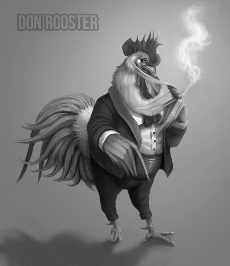 ArtCorgi - Pet and animal portraits by JohnyKatoArt featuring don rooster