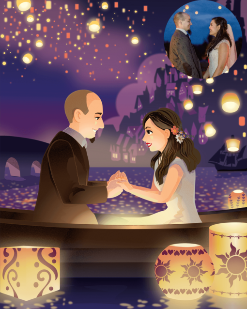 Donna Capacete Tangled inspired Romantic couple portrait sample