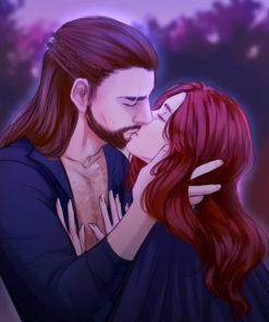 ArtCorgi - Character illustrations by SakuraArtist featuring a couple kissing
