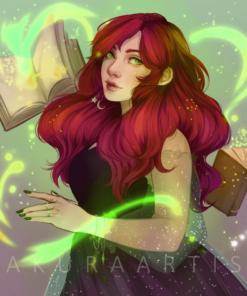 ArtCorgi - Character illustrations by SakuraArtist featuring a cute woman