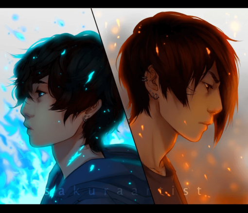 ArtCorgi - Character illustrations by SakuraArtist featuring two male figures