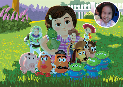 ArtCorgi - Donna Capacete Toy Story inspired portraits