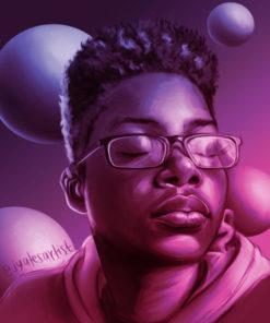 ArtCorgi - Realistic Monochrome Bust Portraits by Ja'lisa Yates