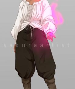 ArtCorgi - Sketchy illustrations by SakuraArtist featuring a cute woman