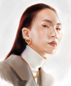 ArtCorgi - Realistic Portraits by edraart featuring a woman