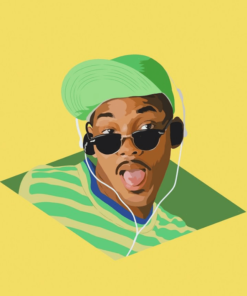 ArtCorgi - Vector Illustrations by Mayur featuring Will Smith as the fresh prince of Bel Air